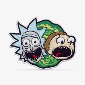 Patch Bordado Desenho Animado Rick and Morty com termocolante 8,5x6,5cm da PATCH GANG