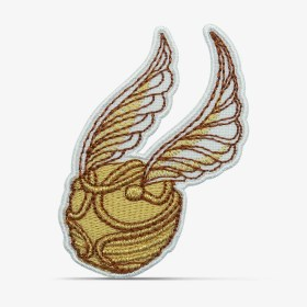 patch bordado adesivo termocolante customização harry potter pomo ouro