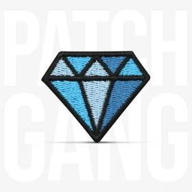 PATCH GANG Bordado Termocolante Diamante Old School 4x3,4cm