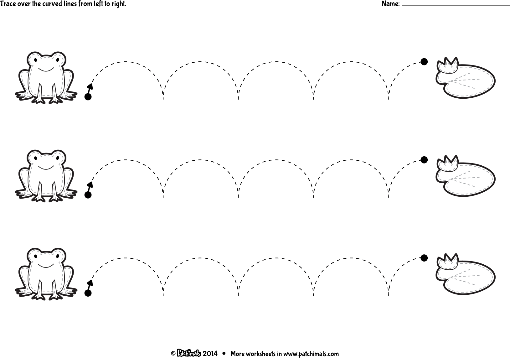 Curves And Lines Worksheet