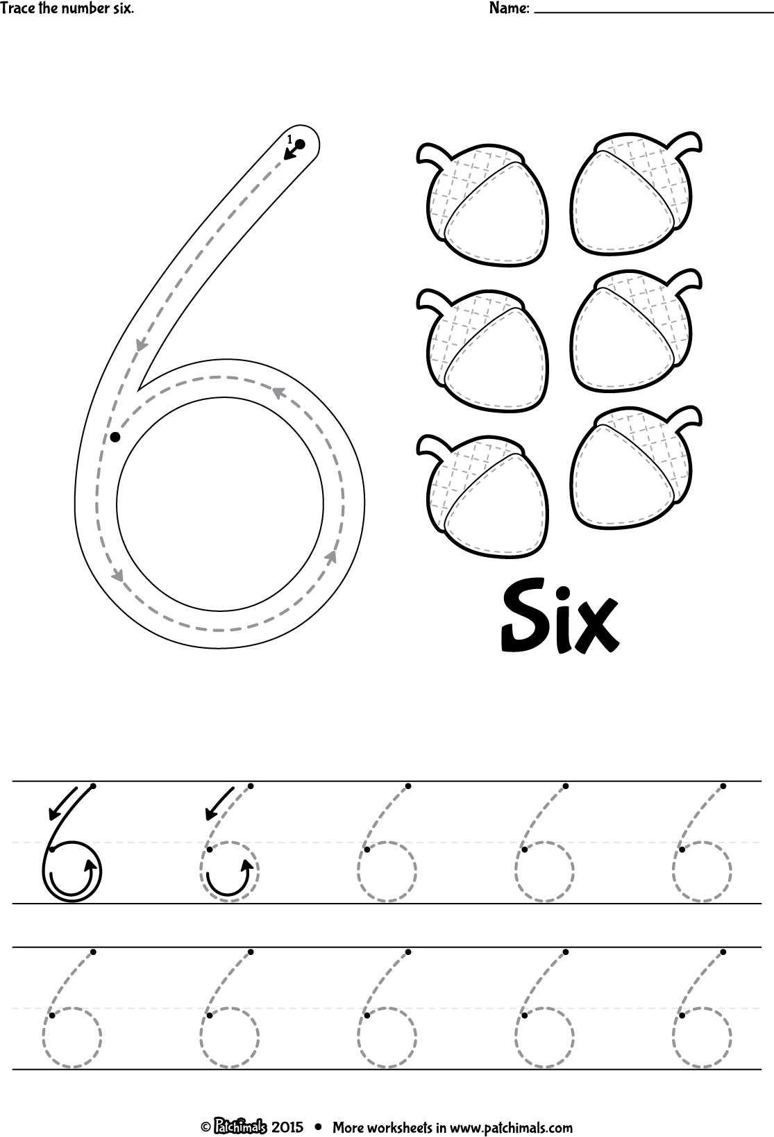 6 10 Worksheet For Preschoolers