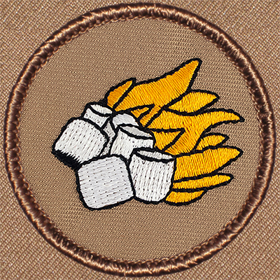 flaming marshmallows patrol patch