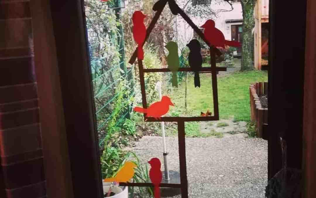 Drinnen spielen - Fensterdeko