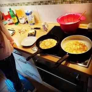 Raclette Pfannkuchen