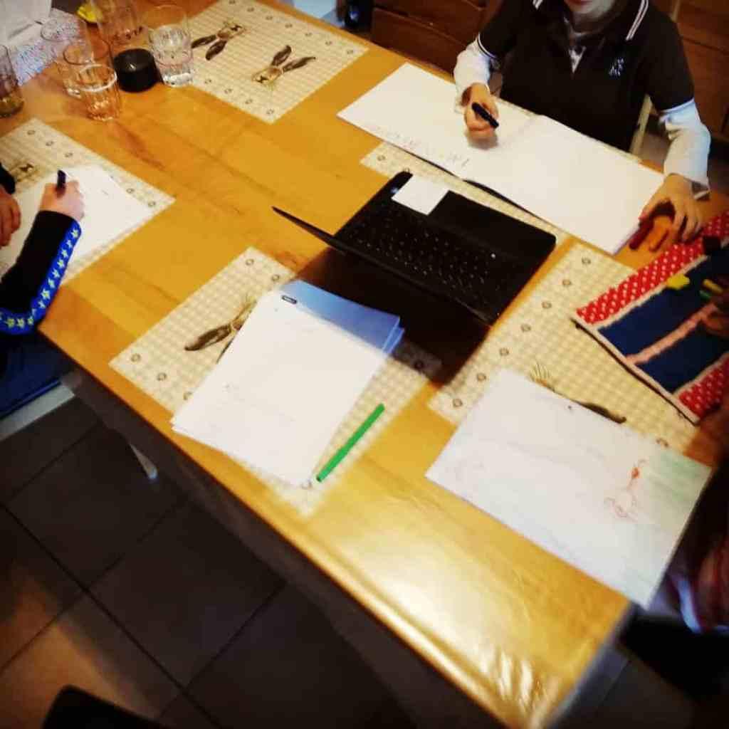 Homeschooling Hausaufgaben