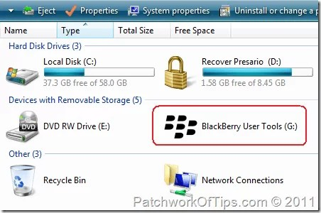 BlackBerry Mass Storage Device