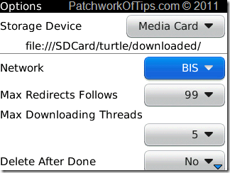 Net Turtle BlackBerry Internet Downloader