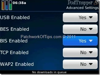 PodTrapper BlackBerry Podcast Download Manager