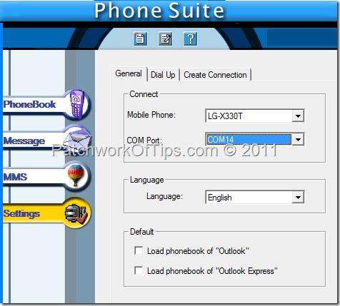 pc suite lg x330t