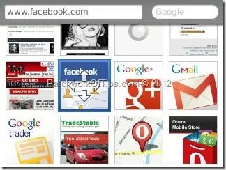 Opera Mini 7 Speed Dial Movement