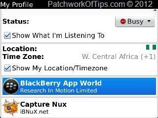 BlackBerry Messenger Options