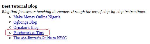 Nigerian Blog Awards Nomination