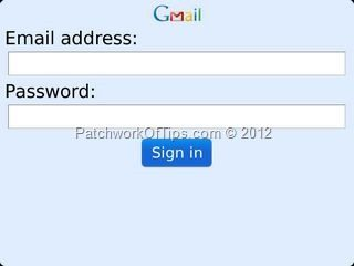Gmail download in blackberry.