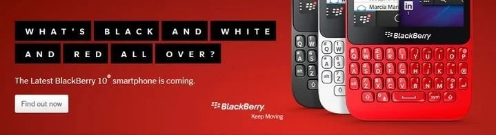 Red, Black and White versions of the BlackBerry Q5
