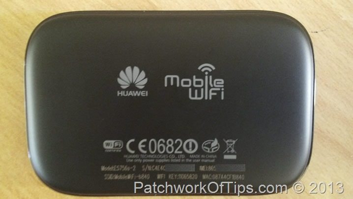 Huawei E5756 Bottom View