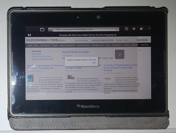 Blackberry Playbook Tablet Giveaway