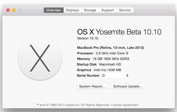 Mac OS X Yosemite Public Beta 10.10