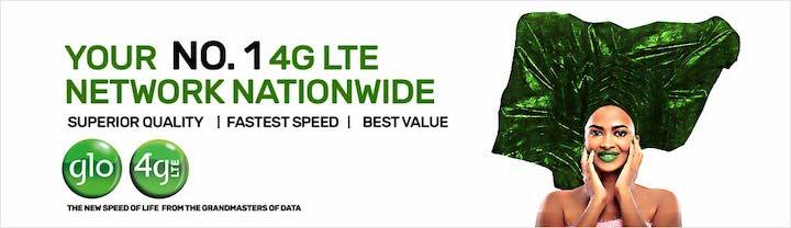 Glo 4G LTE Banner