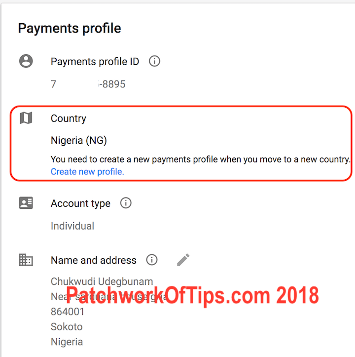 Change Google Account Country For Google Play Store Nigeria Issue 2