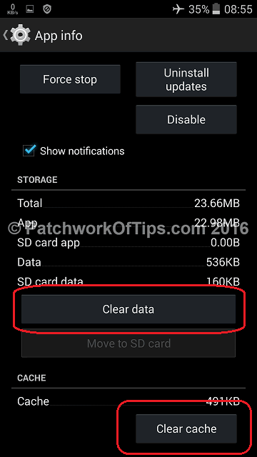 Clear Google Play Store Cache & Data 2
