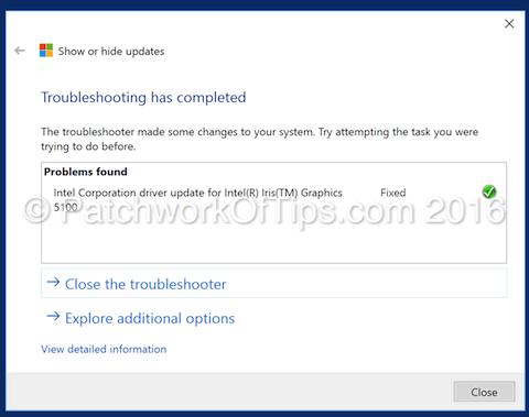 Intel Iris Graphics Driver Blocked