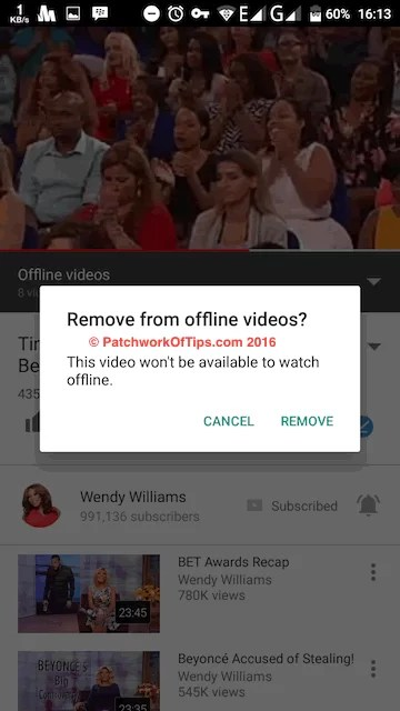 Delete Offline YouTube Videos 2
