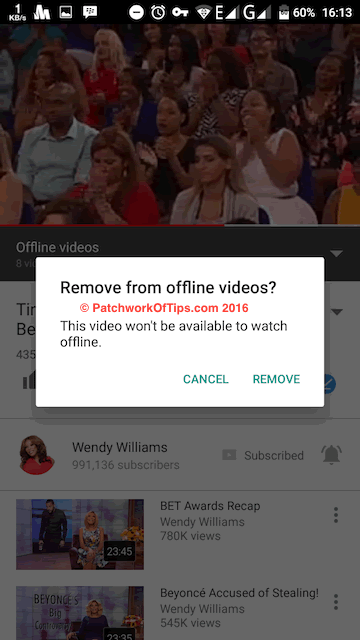 Delete Offline YouTube Videos 2