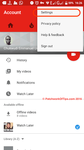 YouTube Offline Settings 1