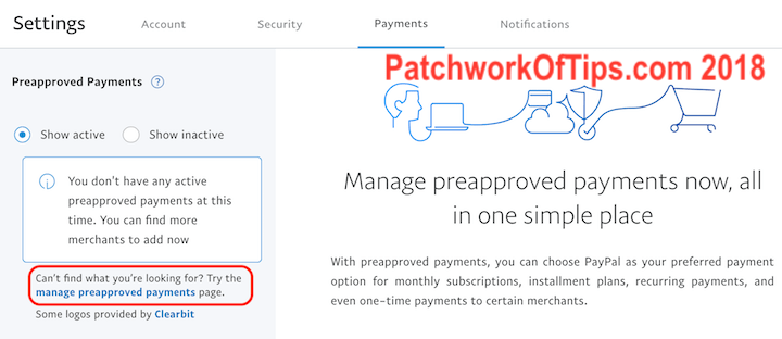 Paypal Manage Pre-approved Payments 2