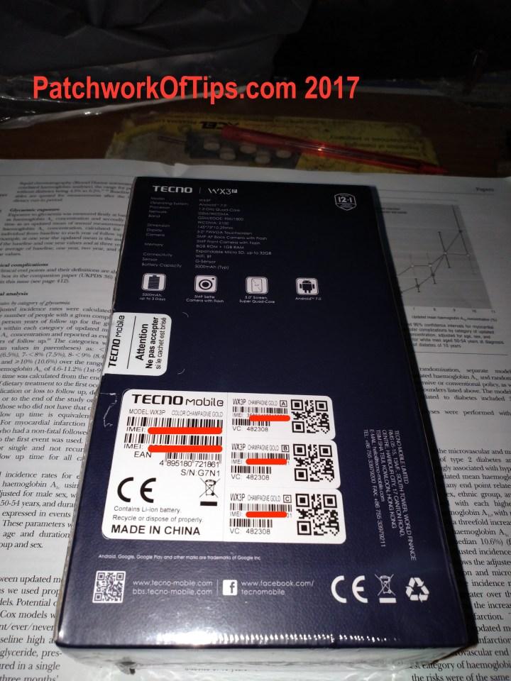 Tecno WX3P Unboxing 1