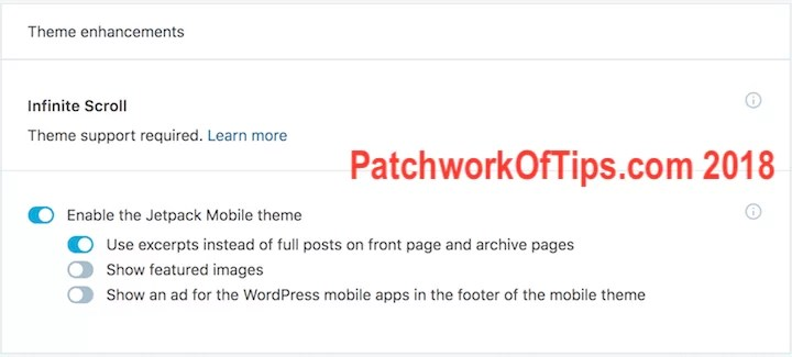 Jetpack Mobile Theme Enable