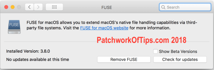 SyncMate for Android FUSE for macOS