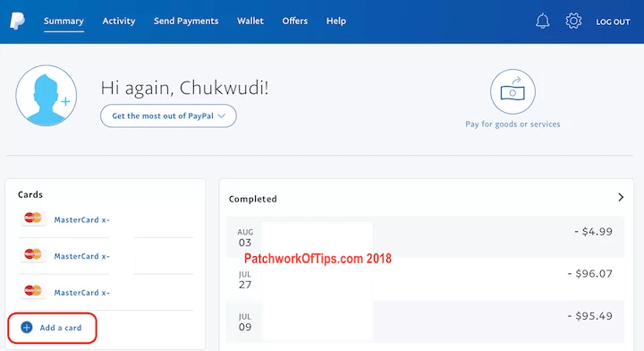 Add New Nigerian Mastercard To Paypal 1