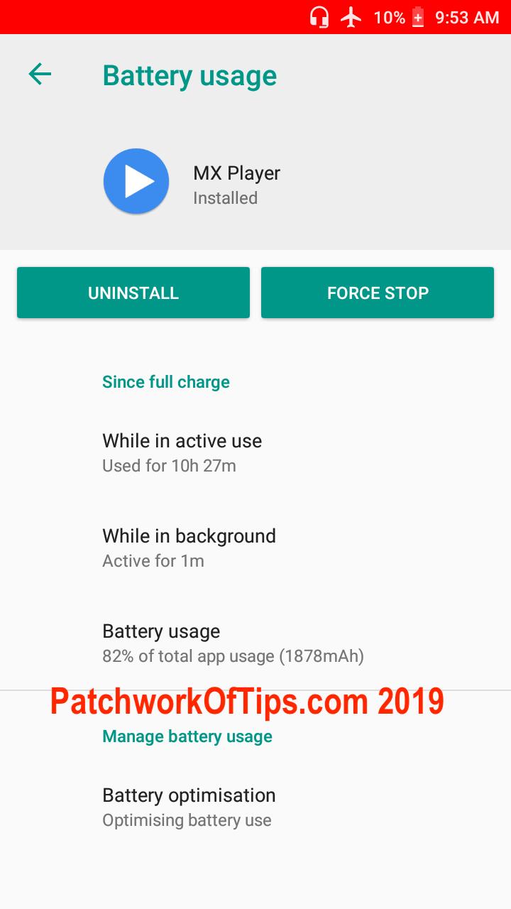 Xiaomi Redmi Go Screenshots Video Playback Battery Life Test 2
