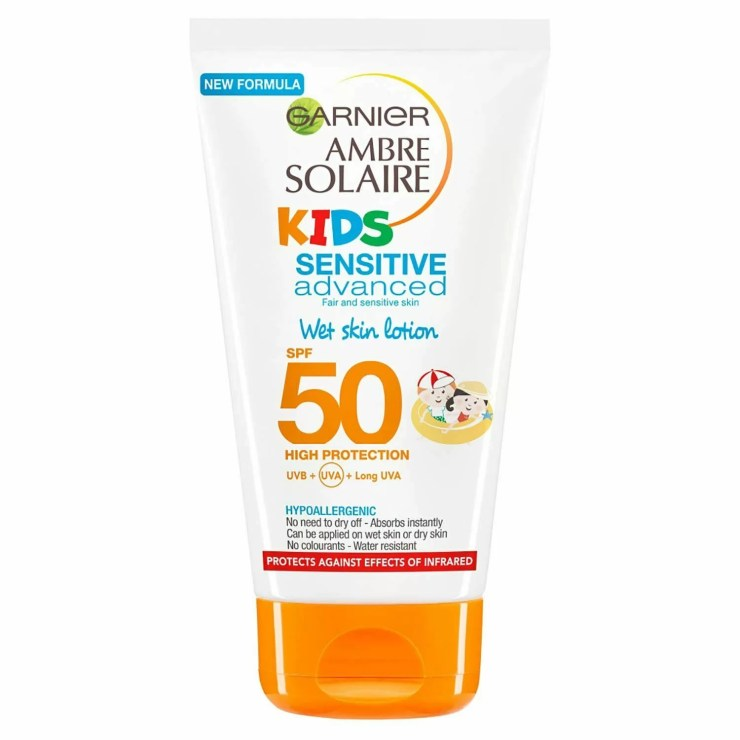 Ambre Solaire Kids Sensitive Wet Skin Lotion
