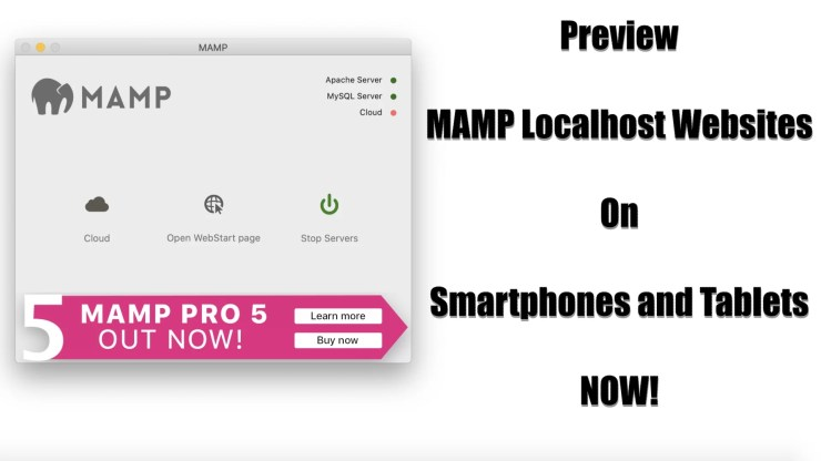 How To View MAMP Localhost On Mobile Devices