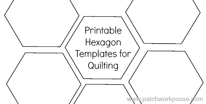 Printable Hexagon Template for Quilting [PDF download]