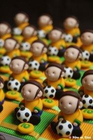 Boîtes à dragées footballeurs Brésil