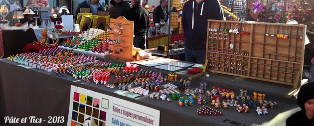 Stand marchés artisanaux et salons atelier Pâte et Tics