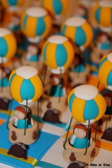 Boîtes à dragées montgolfières