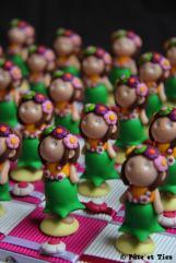 Boîtes à dragées danseuses vahinés thème exotisme Tahiti