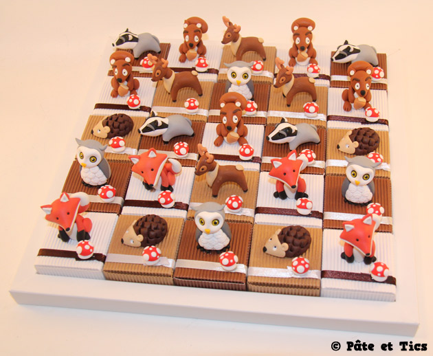 boîtes à dragées animaux de la forêt 04