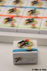 Boîtes à dragées palette de peinture