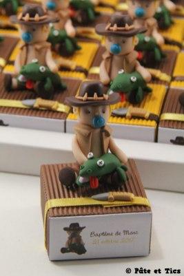 Boîtes à dragées aventuriers et leur crocodiles
