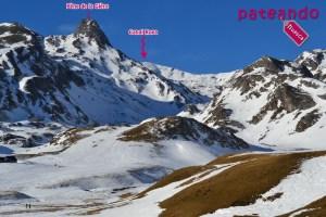 Pico Canal Roya en raquetas