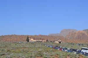 Vista del Parador desde lo alto de Los Roques de García