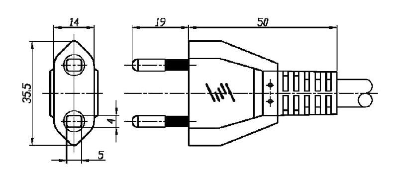 102 Swiss Plug 2 pole STRAIGHT – PATELEC Group