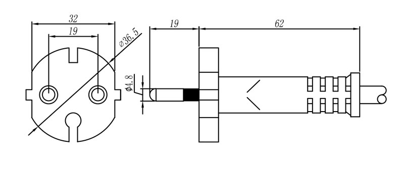 152 Korea Plug 2 pole STRAIGHT – PATELEC Group