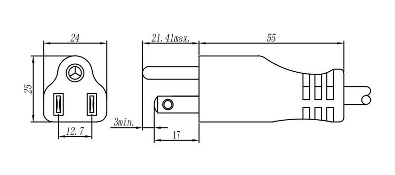 42 Japanese Plug 2 pole + E STRAIGHT