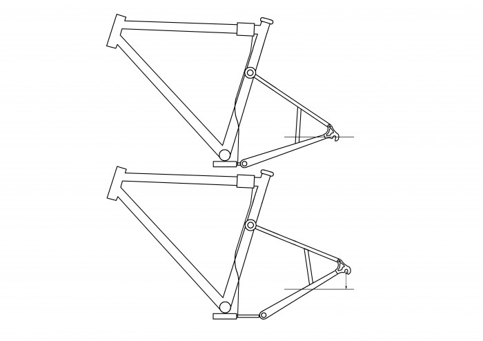 Buy the patent: Tension pneumatic spring-bike frame